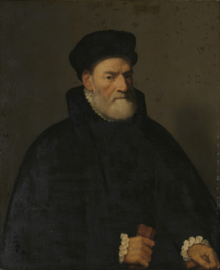 おそらくベルガモの上院議員、ヴェルチェリノ・オリヴァッチであろう、ある男の肖像