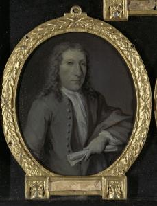 アムステルダムの劇作家、ギスベルト・ティッセンス(1693-1732)の肖像