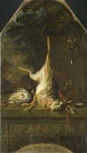 死んだ野ウサギとヤマウズラの静物画