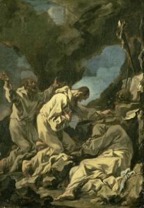 恍惚の祈りの三人のカマルドリの僧