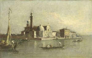 ヴェネツィアのサン・ミケーレ島の眺め