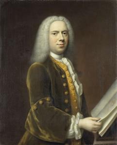 ある男、おそらくコーネリス・トゥルースト(1696-1750)の肖像