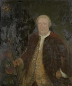 オランダ東インド会社総督、ペトルス・アルベルタス・ヴァン・デル・パッラの肖像