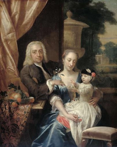 アイザック・パーカー、妻ジャスティーナ・ヨハンナ・ラムスクラマー、そして彼らの息子ウィレム・アレクサンダー(1740-1747)