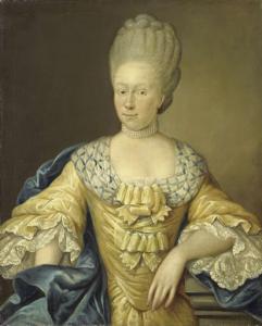 ヨハン・アーノルド・ゾウトマンの妻、アドリアーナ・ヨハンナ・ヴァン・ホイスデン