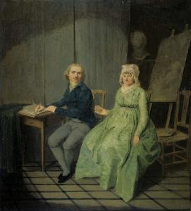 ある画家とその妻