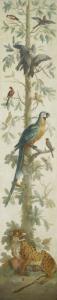 植物と動物の装飾的描写