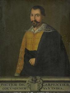 オランダ領東インド総督、ピーター・デ・カーペンティールの肖像