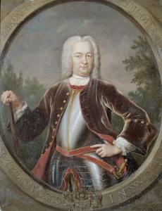 オランダ東インド会社総督、グスタフ・ウィレム・インホフ男爵の肖像