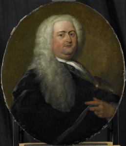 1734年に選ばれた、オランダ領東インド会社のロッテルダム支社長、アドリアン・パーツの肖像