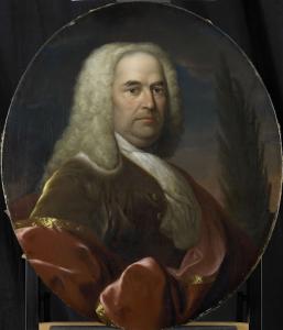 1734年に選ばれた、オランダ領東インド会社のロッテルダム支社長、ヒューゴ・デュ・ボワの肖像