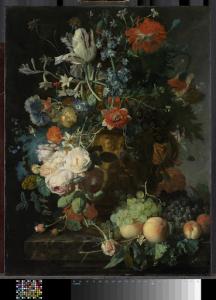 花と果物のある静物