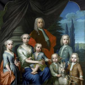 ウィレム・フィリップ・コップス (1695-1756)、妻と子供