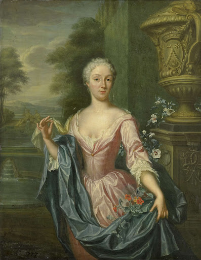 ピーター・テンディング・ヴァン・ベルクホートの妻、クロウディーヌ・ヴァン・ロイヤン(1712生)の肖像