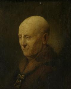 おそらくレンブラントの父、ハーマン・ゲリッツ・ヴァン・リーンと思われる、ある男の肖像