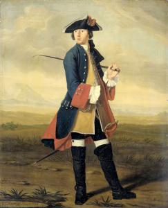 ドラグーンスの制服を着た画家、ルドルフ・バックヒュイセン2世の肖像