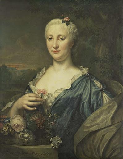 コーンラード・ヴァン・ヒームスケルクの妻、アグネス・マルガレータ・アルビヌスの肖像