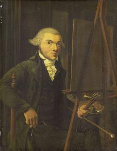 おそらくヘルマヌス・アッピンクであろう、ある画家の肖像