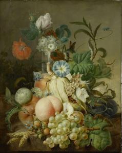 花と果物の静物