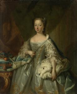 オランジェの王女、ウィレム4世の妻、ハノーファーのアンネの肖像