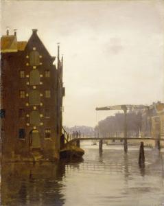 ウイレンブルグのアムステルダム運河沿いの倉庫