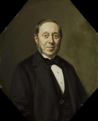 美術家、美術商、フープ美術館長、ヨハネス・コーネリス・ヴァン・パッペレンダム(1810-1884)の肖像