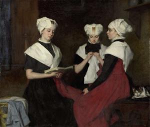 アムステルダム孤児院の三人の少女