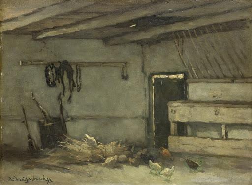 馬小屋の中