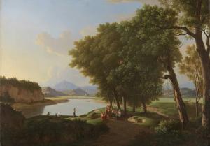 ローマ近郊の水辺の風景