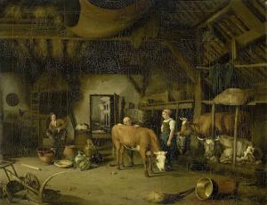 農夫の家の中
