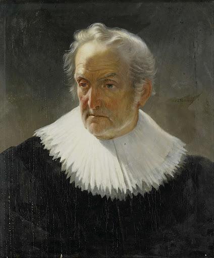 17世紀の衣装を着た老人