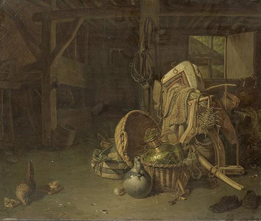 馬車小屋の静物