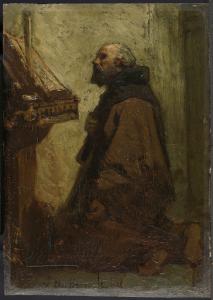 祈る修道士