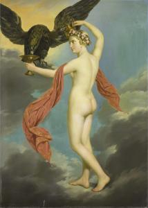 鷲の外観の木星とヘベ