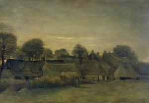 夕暮れの農村