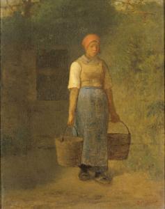 水を運ぶ少女