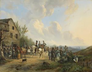 ベルギー反乱運動の10日間からの場面、1831年8月