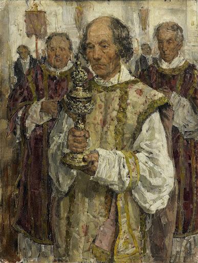 ハーグの旧カトリック教会の行列