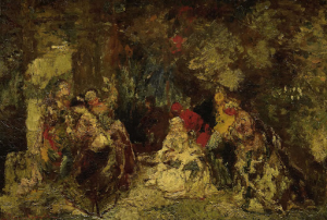 森林の中の女性達