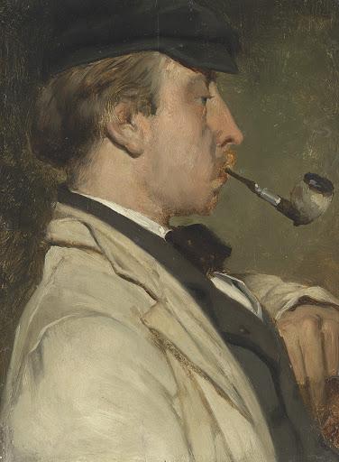 画家、ルートヴィッヒ・カシミール・ジーリッヒ(1834-1919)の肖像