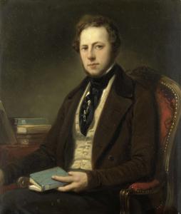 おそらくペトルス・アウグストゥス・デ・ジェネシュテット(1829-1861)であろう、男の肖像
