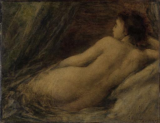 横たわっている裸婦