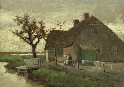 水路沿いの家