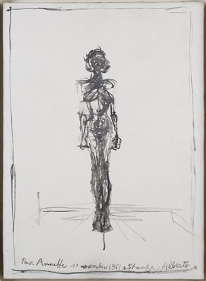 立ち姿の裸婦