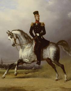 オランダ王、ウィリアム2世の馬に乗った肖像