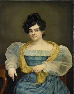 ヨハネス・プルース・ヴァン・アムステルの妻、アドリアーナ・ヨハンナ・ヴァン・ウィックの肖像