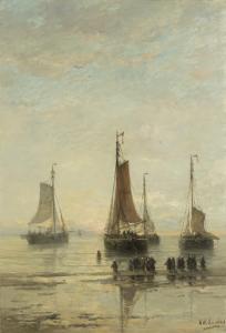 アンカーの尖った船首のスヘフェンゲンボート