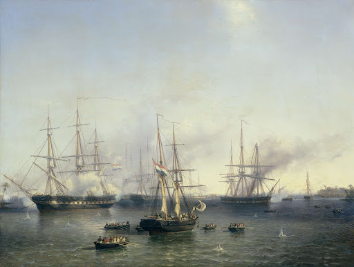 パレンバンの征服、インドネシアのスマトラ、バロン・デ・コック中尉、1821年6月24日