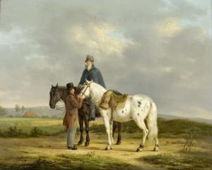 ある風景の中の二人の馬乗り