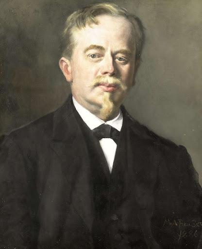 アウグストゥス・アレベ(1838-1927)の肖像